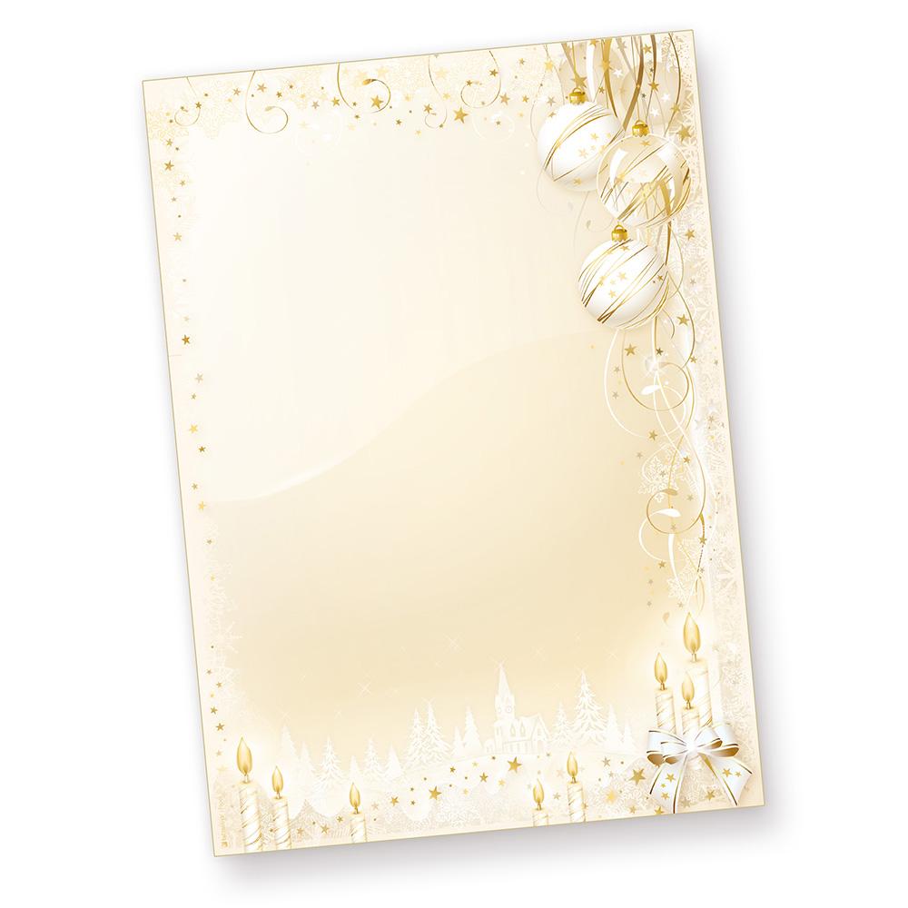 Märchenhaftes Weihnachtsbriefpapier (1000 Blatt)  bedruckbar