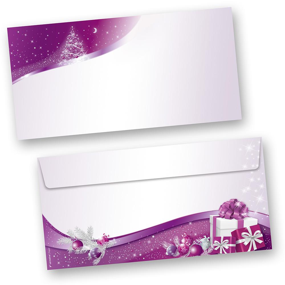 Briefumschläge lila Sternenzauber (100 Stück ohne Fenster)