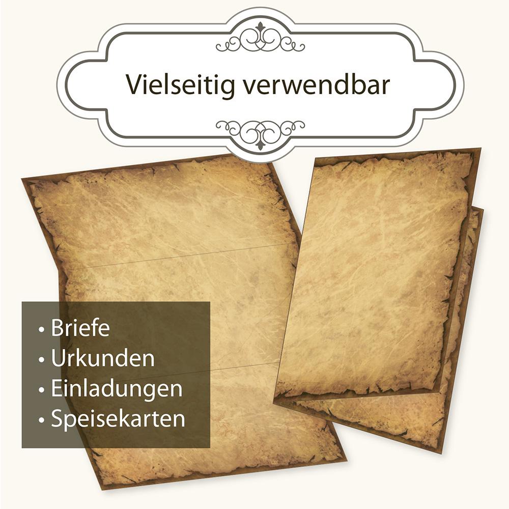 Motiv-Briefpapier ALTES WEIHNACHTSPAPIER DIN A4 Format 20 Blatt