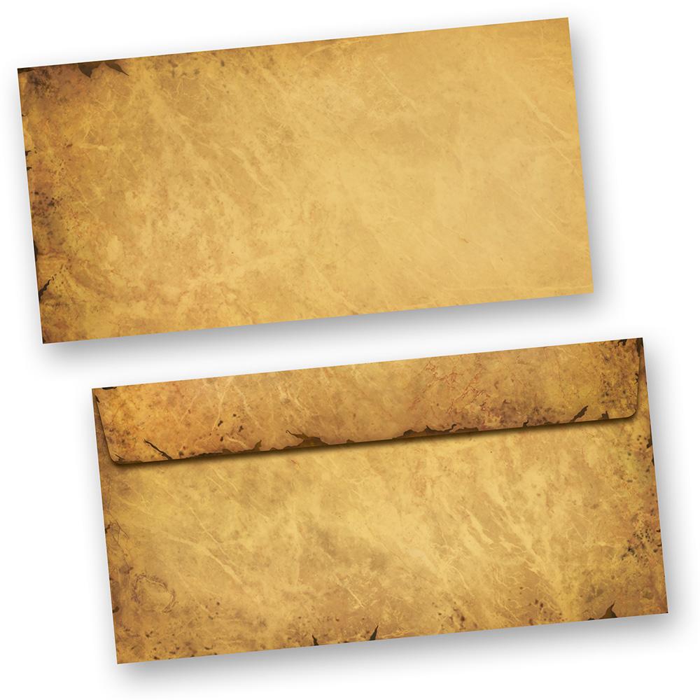Briefumschläge CASANOVA Braun (50 Stück o.F.) DIN lang Umschlag Mittelalter alt antik