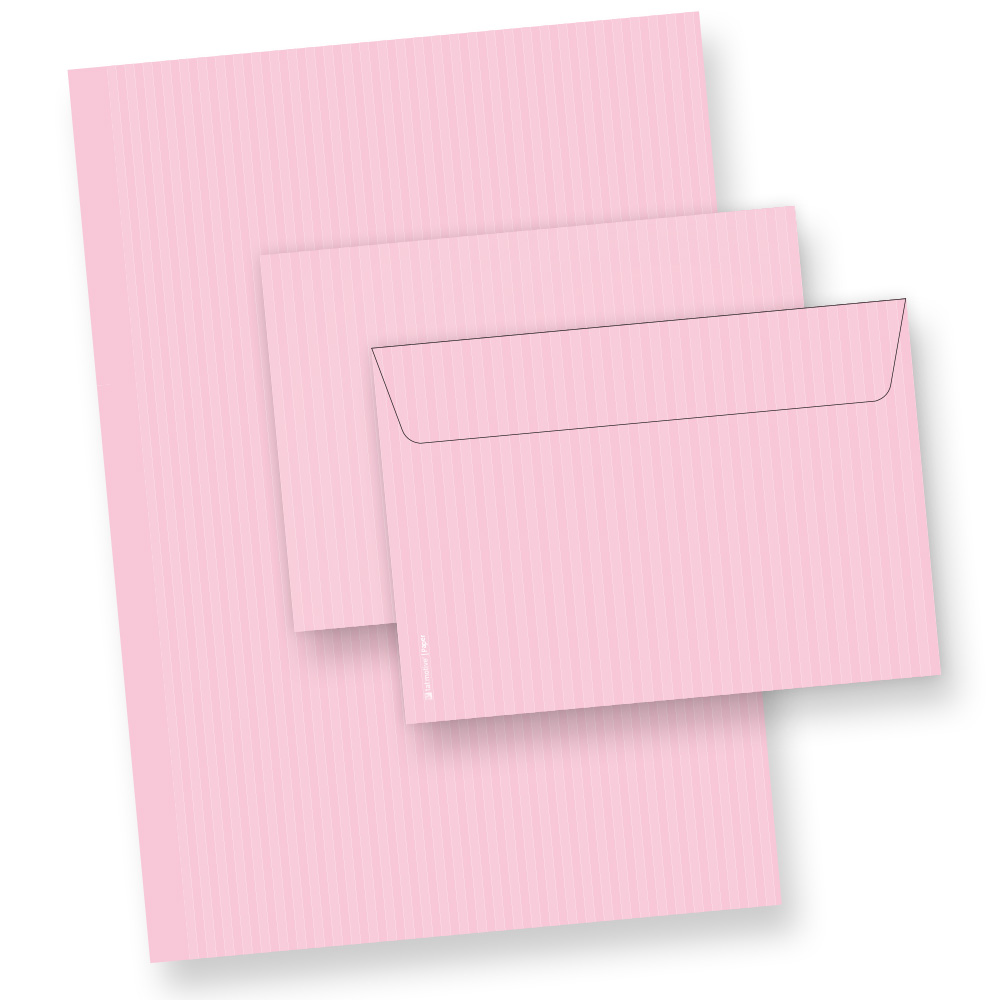 Briefpapier Set ROSA (25 Sets)