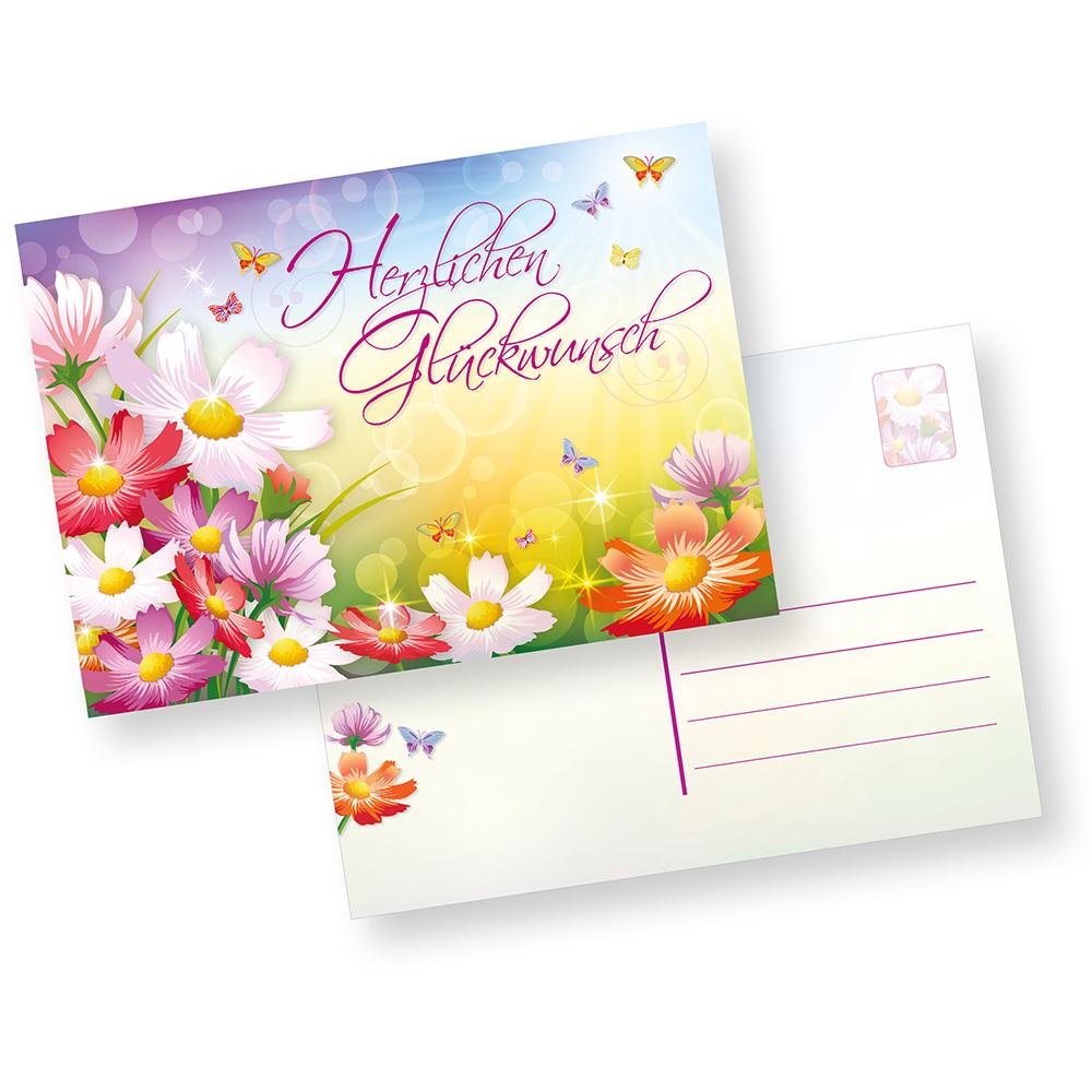 Glückwunsch-Postkarten (50 Stück)