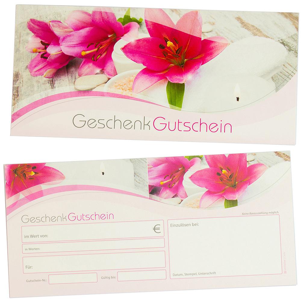 Geschenkgutscheine Beauty & Wellness (50 Stück) Gutscheine selbst ausfüllen und verkaufen