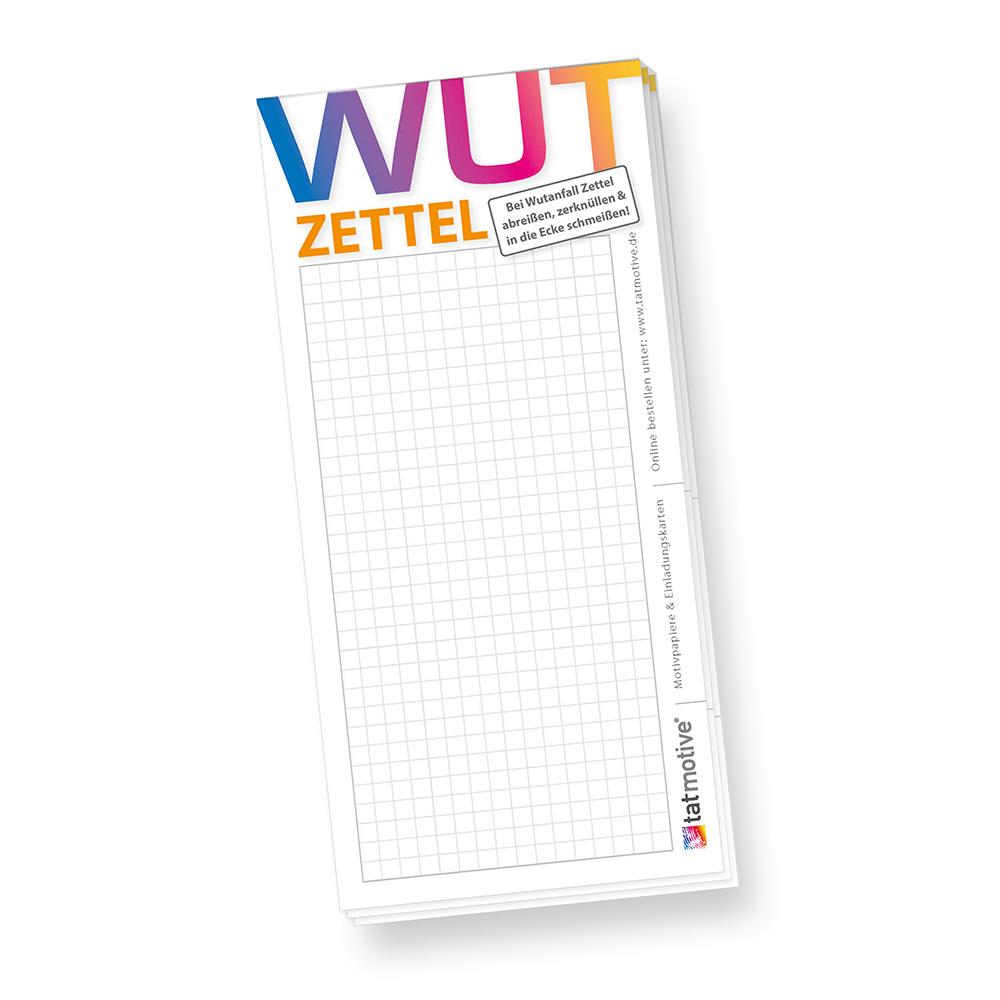 Schreibblock Wutzettel (4 Stück)