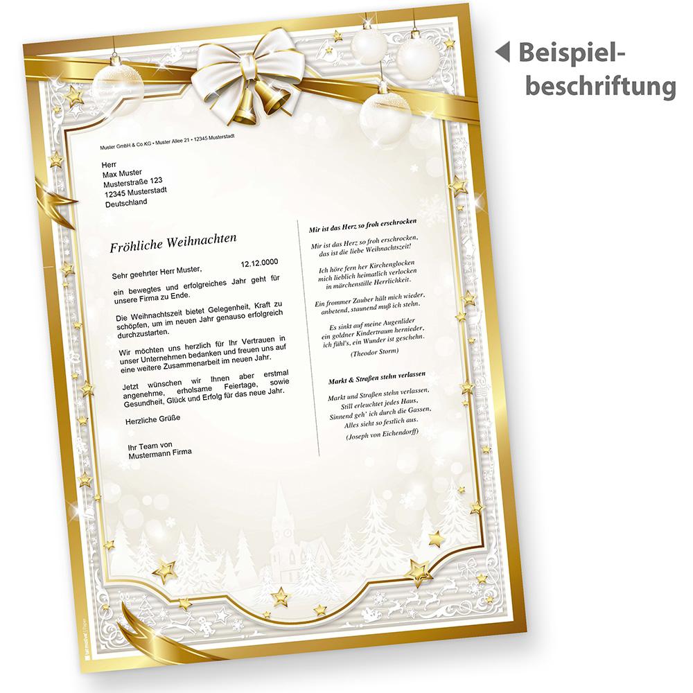 geschäftlich Briefpapier Weihnachten GOLDEN ROYAL 250 Sets o.F