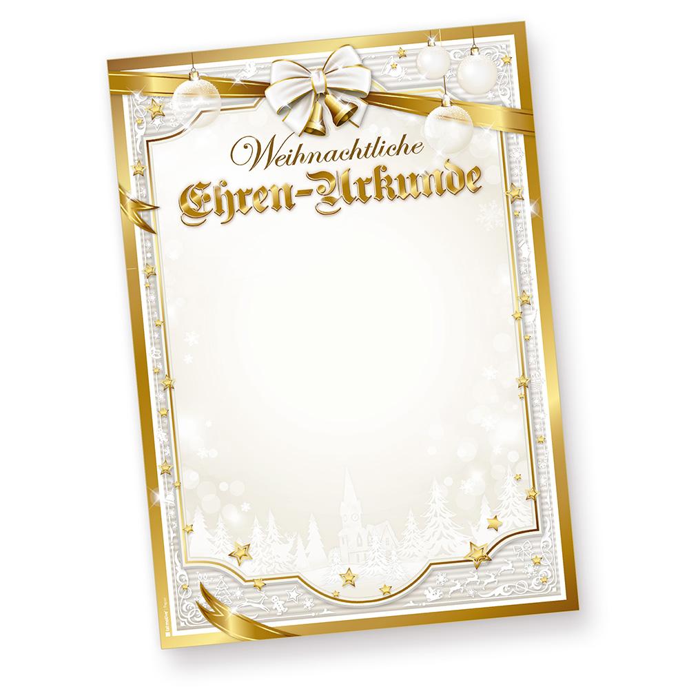 Briefpapier Weihnachten Geschenkschleife 50 Blatt Vordrucke Menü