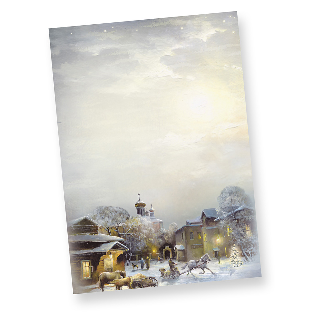 Weihnachtsbriefpapier WINTER-AQUARELL (500 Blatt)  Weihnachten Malerei