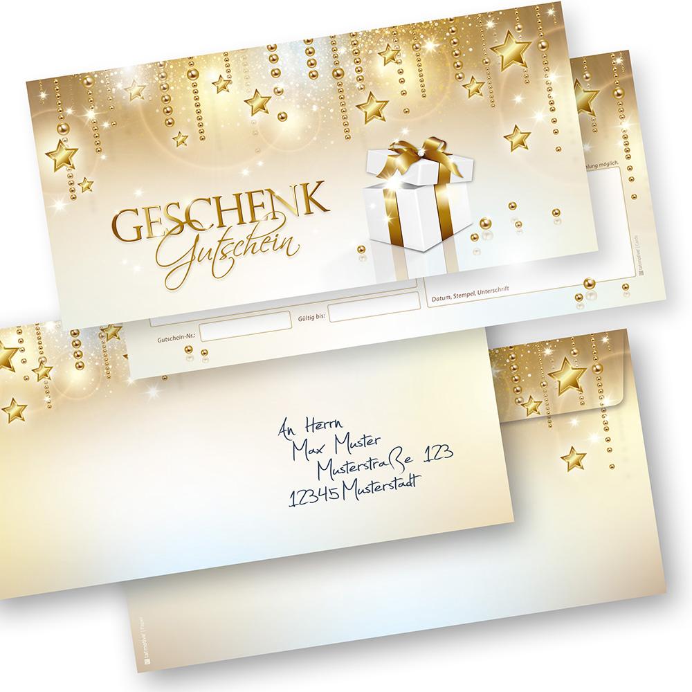 Geschenkgutscheine Weihnachten Stardreams (500 Sets) mit Umschläge