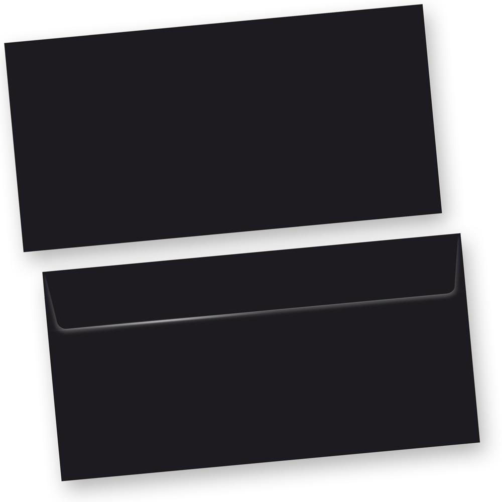 SKALA Briefumschläge Schwarz (100 Stück) DIN lang selbstklebend mit Haftklebestreifen