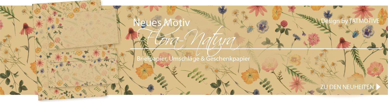 Flora-Natura Briefpapier neu