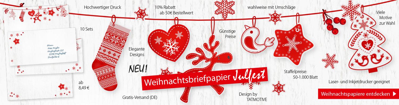 Neu Weihnachtsbriefpapier Julfest