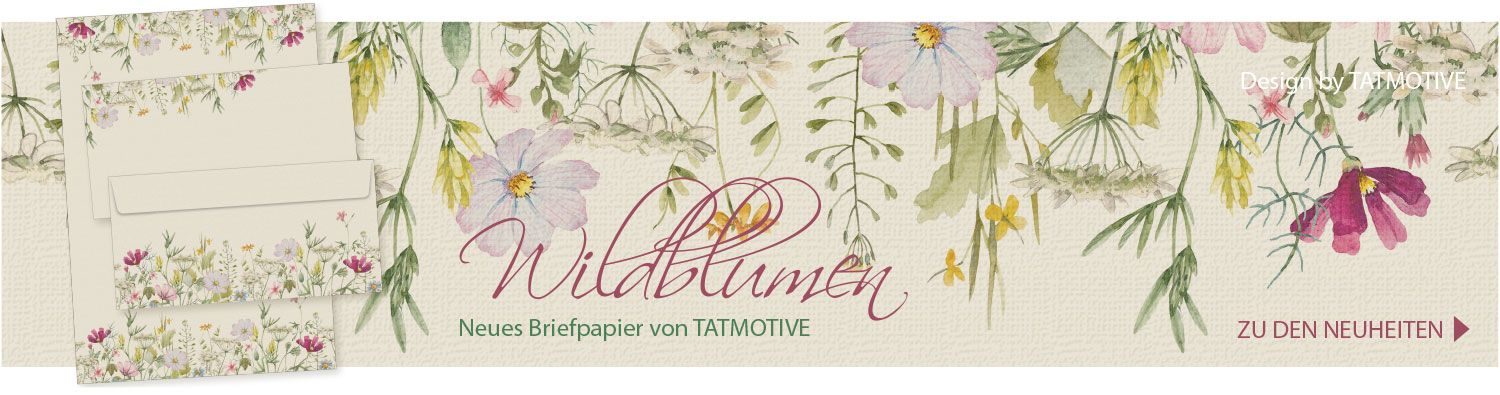 Briefpapier Wildblumen Set