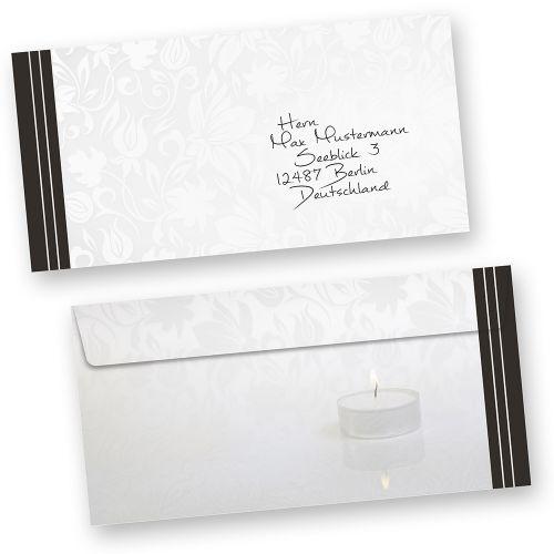 Briefumschlag Beschriften Bei Trauer : Trauerkarten danksagung selbst bedrucken mit umschlag