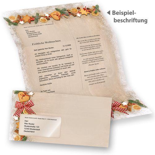 Weihnachtsbriefpapier NOSTALGIE Briefpapier für Weihnachten Firmen geschäftlich