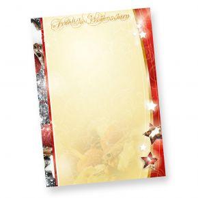 Weihnachtpapier 1-seitig (20 Blatt) Briefpapier »Lecker Lebkuchen« DIN A4 farbig, für Weihnachten