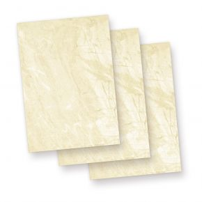 Karton Marmor A5 (100 Blatt) 170 g/qm Beidseitig braun, Speisekarten Blätter Urkunden-Papier
