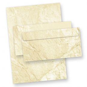 Briefpapier-Set marmoriert (10 Sets) 10 Briefbogen + 10 Umschläge