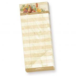 Schreibblock Kellnerblock (20 Stück) Notizblöcke braun marmoriert, ideal für Gastronomie, Restaurant