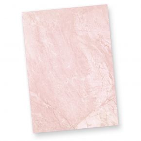 Briefpapier Marmor Rot (50 Blatt) BEIDSEITIGES Tatmotive-Strukturpapier, 50 Briefbogen DIN A4 297 x 210 mm, fein marmoriert für Briefe, Urkunden, Speisekarten