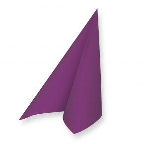 Servietten Hochzeit violett (20 Stück) in Farbe Violett, zur Tischdekoration bei Feierlichkeiten