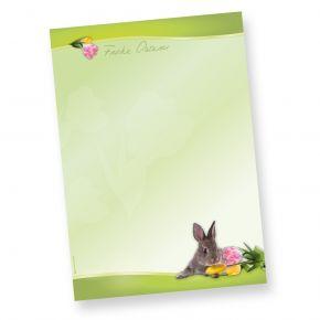 Briefpapier Osterhase (50 Blatt) schönes Motivpapier Ostern DIN A4 90g farbig, selbst bedruckbar