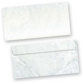 Briefhüllen Marmor grau-blau (50 ohne Fenster) DIN lang Umschlag mit grau-blau strukturiertem Hintergrund. Passendes Briefpapier erhältlich oder auch als Set.