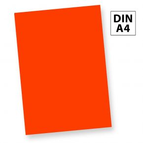 Neonpapier NEON Rot (50 Blatt) DIN A4, 80 g/qm farbiges Briefpapier, Leuchtpapier