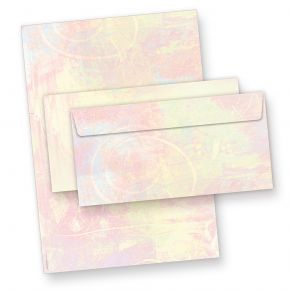 Briefpapier Set Pastell (25 Sets) beidseitig DIN A4, mit Umschläge