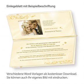 Blätter für Einladung Perlmutt (10 Blatt) nur Einlegeblätter zum Nachbestellen