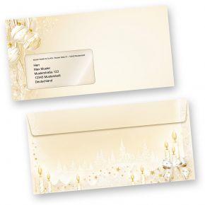 Weihnachtsumschläge Märchen (50 Stück mit Fenster) Briefumschläge Weihnachten Din lang mit Fenster Umschläge für Weihnachten selbstklebend haftklebend
