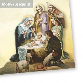 Christliches Weihnachtsbriefpapier Weihnachtsgeschichte (50 Blatt) Weihnachten DIN A4 - mit christlichem Motiv Geburt Jesus Bethlehem