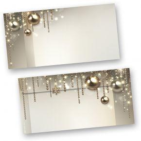 Briefumschläge NOBLESSE (50 Stück ohne Fenster) Din lang ohne Fenster Umschläge für Weihnachten selbstklebend haftklebend