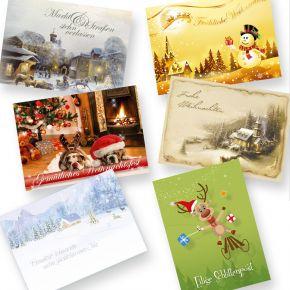 Postkarten Weihnachten Kollektion (6 x 6 = 36 Stück) Weihnachtspostkarten, Set gemischt mit 6 schönen Motiven - Weihnachtskarten