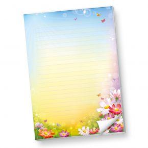 Schreibblock DIN A4 liniert Florentina (1 Stück) Briefpapier-Block bunt mit herrlichen Blumen