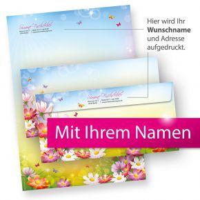Briefpapier Set Florentina PERSÖNLICH (25 Sets) mit Wunschnamen bedruckt - tolle Geschenkidee