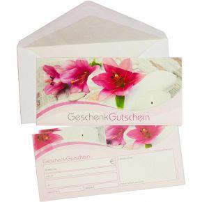 Gutscheine Wellness & Kosmetik (50 Stück mit Umschläge) einfach Werte eintragen + Stempel, für Massage & Beauty