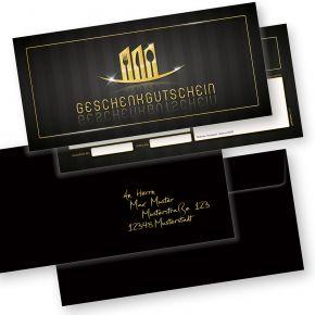 Geschenkgutscheine Gastronomie (500 Stück mit Umschläge) einfach Werte eintragen + Stempel, für Gastro / Restaurant