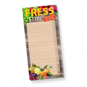 Notizblock Fresszettel liniert (4 Stück) Einkaufszettel Einkaufsblock Notizzettel Einkaufsliste lustig