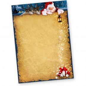 Briefpapier Weihnachten NORDPOL EXPRESS (50 Blatt) mit Weihnachtsmann und Rentiere
