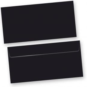 SKALA Briefumschläge Schwarz (50 Stück) DIN lang Umschlag selbstklebend mit Haftklebestreifen