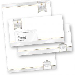 Business Design 10 Sets Weihnachtsbriefpapier mit Fensterumschlägen geschäftlich