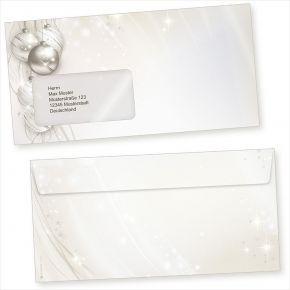 ELEGANCE 50 Stück  Briefumschläge Weihnachten mit Fenster