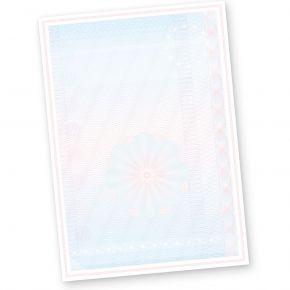 Wertpapier Briefpapier Vordrucke DIN A4 50 Blatt für Zertifikate Urkunden Auszeichnungen