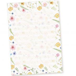 Schreibblöcke DIN A4 liniert Flora-Bianca (2 Stück) Briefpapier-Block mit Blumen und besonders feiner Lineatur