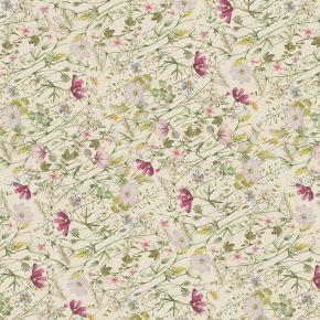 Wildblumen Geschenkpapier Vintage Blumen floral 5 Bögen 84 x 59 cm, Öko Recycling-Papier nachhaltig gedruckt, für Geburtstag Geschenk
