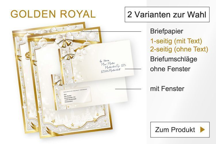 Briefpapier Golden Royal 2019
